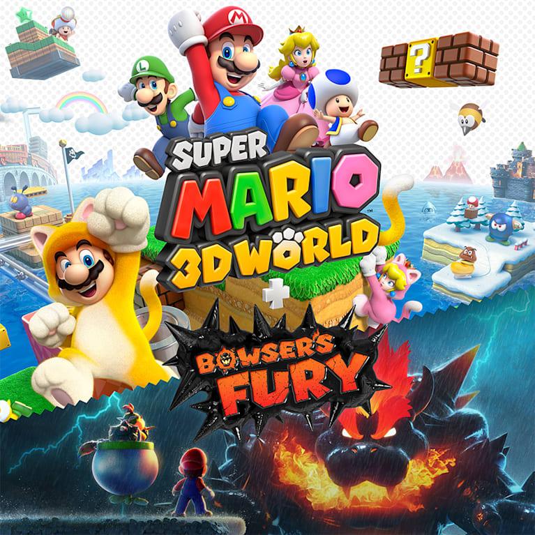 Main illustration for Super Mario 3D World + Bowser's Fury