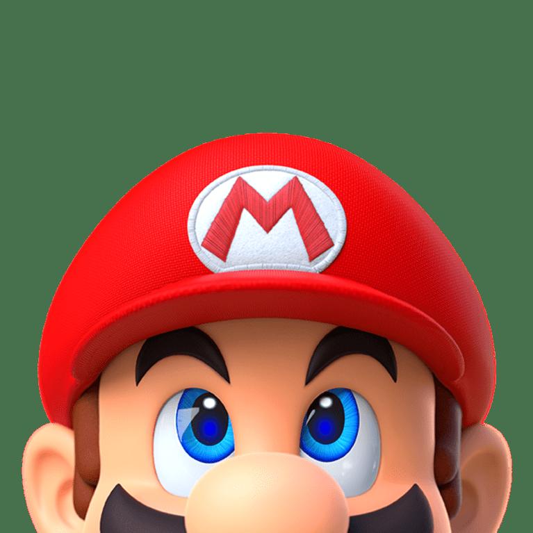My Nintendo Mario looking up