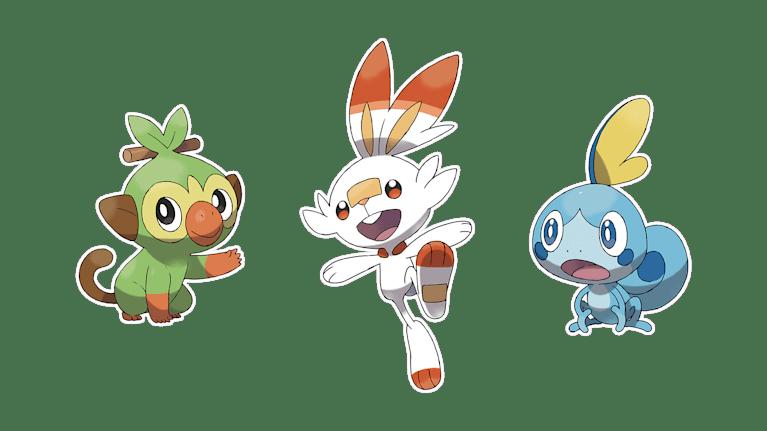 Pokémon Sword and Pokémon Shield Starters