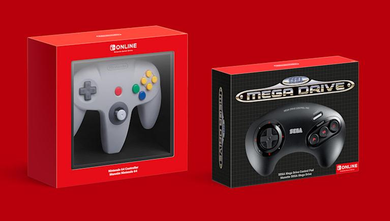 Nintendo 64 and SEGA Mega Drive wireless controllers
