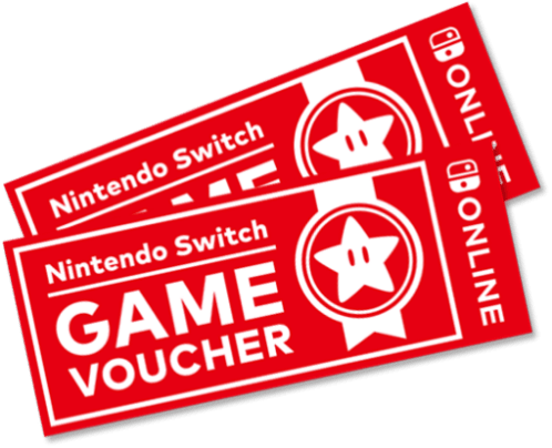 Available with Nintendo Switch Game Vouchers