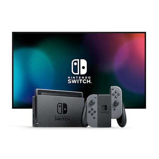 Nintendo Switch with Grey Joy-Con Controllers