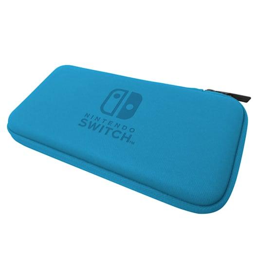 Nintendo Switch Lite Hard Pouch (Blue/Grey) image 3