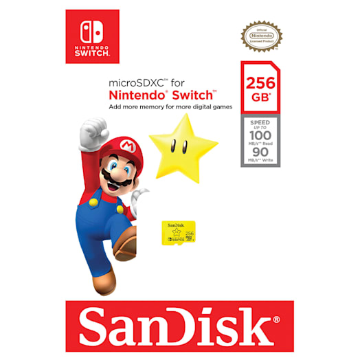 SanDisk microSDXC Card for Nintendo Switch - 256GB