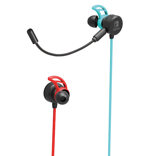 Nintendo Switch Gaming Earbuds (Wired) - Neon Blue / Neon Red image 1