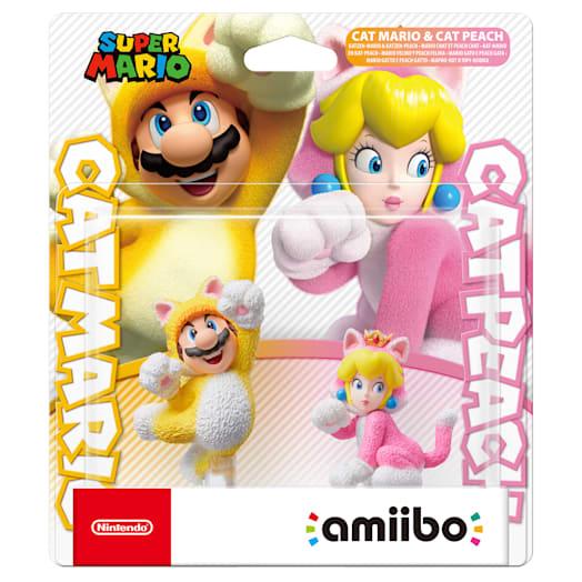 Cat Mario and Cat Peach Double Pack amiibo (Super Mario Collection) image 2