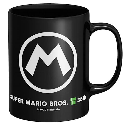 Mario Black Mug - Super Mario Bros. 35th Anniversary image 2