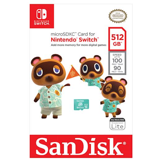 SanDisk microSDXC Card for Nintendo Switch - 512GB