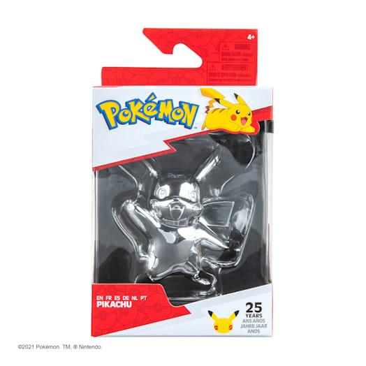 Pokémon 25th Celebration Pikachu Silver Figure