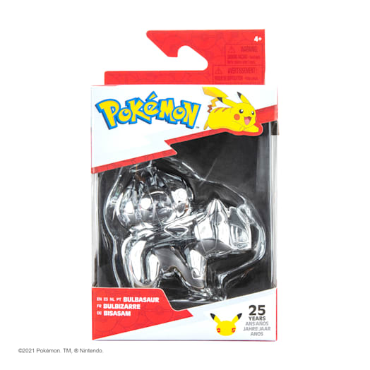 Pokémon 25th Celebration Bulbasaur Silver Figure