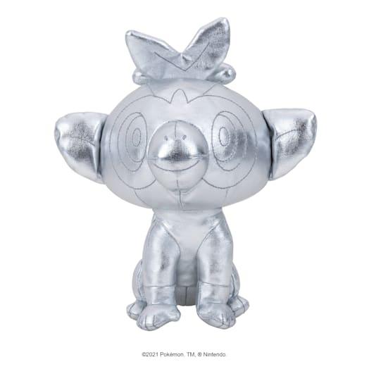 Pokémon 25th Celebration Grookey Silver Soft Toy