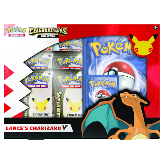 Pokémon TCG: Celebrations V Box - Lance's Charizard V & Dark Sylveon V (25th Anniversary) Assortment image 2