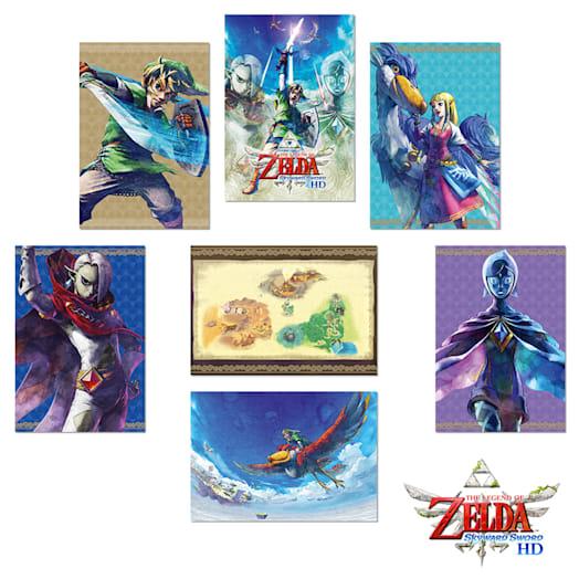 The Legend of Zelda: Skyward Sword HD XL Postcard Set + Art Stand
