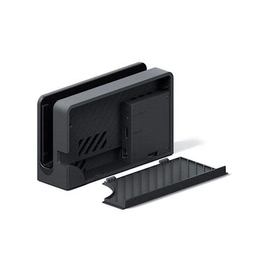Back Cover (for Nintendo Switch Dock With LAN Port) Black