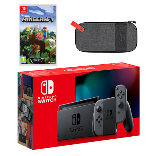 Nintendo Switch (Grey) Minecraft Pack image 1