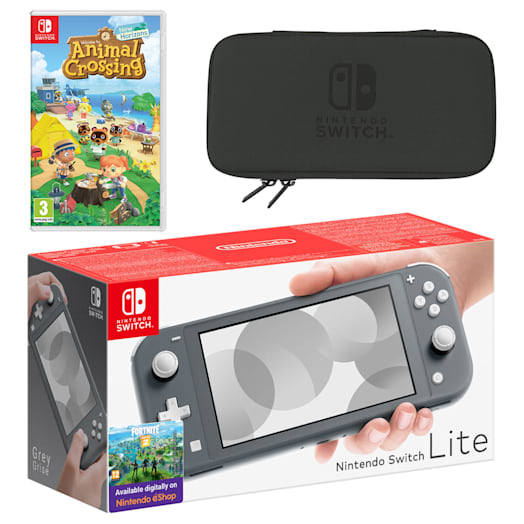 Nintendo Switch Lite (Grey) Animal Crossing: New Horizons Pack