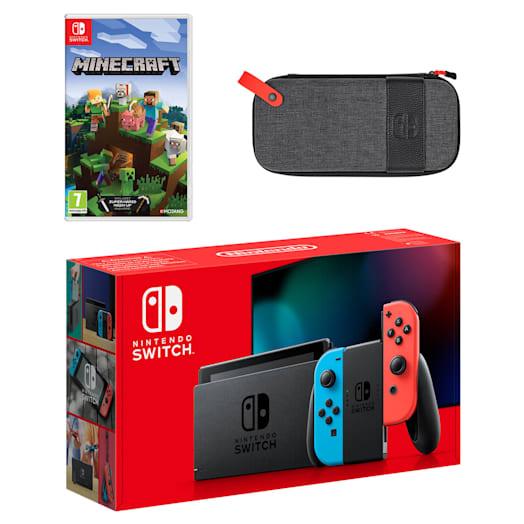 Nintendo Switch (Neon Blue/Neon Red) Minecraft Pack image 1