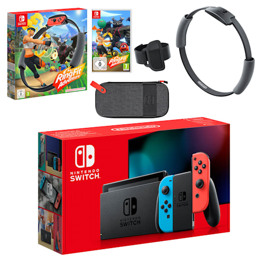 Nintendo Switch (Neon Blue/Neon Red) Ring Fit Adventure Pack image 1