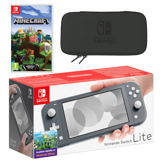 Nintendo Switch Lite (Grey) Minecraft Pack image 1