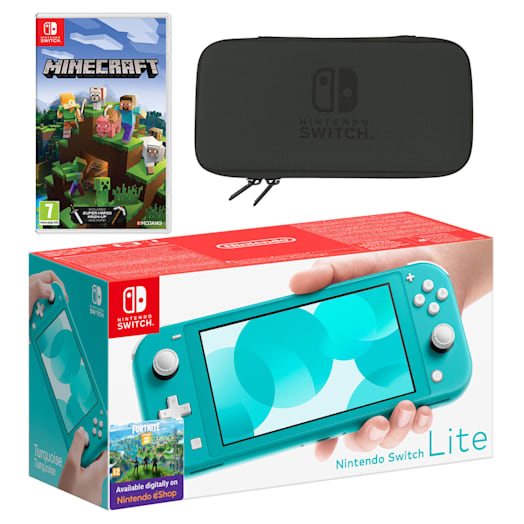 Nintendo Switch Lite (Turquoise) Minecraft Pack image 1