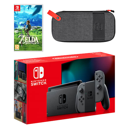 Nintendo Switch (Grey) The Legend of Zelda: Breath of the Wild Pack