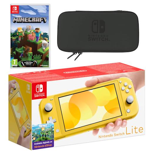 Nintendo Switch Lite (Yellow) Minecraft Pack image 1