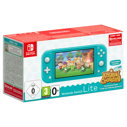 Nintendo Switch Lite (Turquoise) + Animal Crossing: New Horizons + Nintendo Switch Online (3 Months) + Mario Kart 8 Deluxe Pack