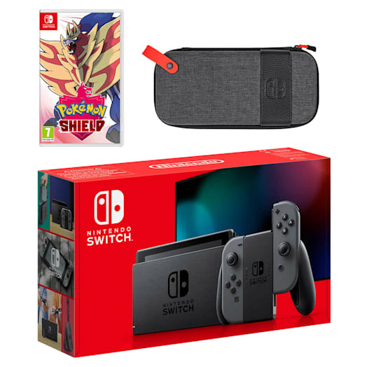 Nintendo Switch (Grey) Pokémon Shield Pack