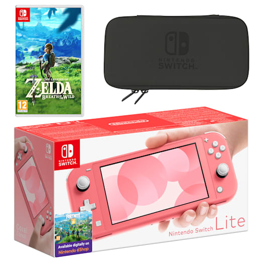 Nintendo Switch Lite (Coral) The Legend of Zelda: Breath of the Wild Pack