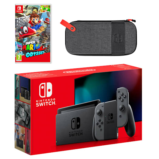 Nintendo Switch (Grey) Super Mario Odyssey Pack image 1