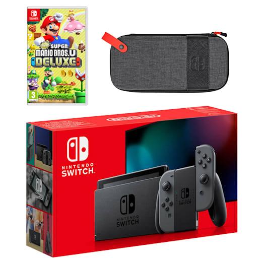 Nintendo Switch (Grey) New Super Mario Bros. U Deluxe Pack