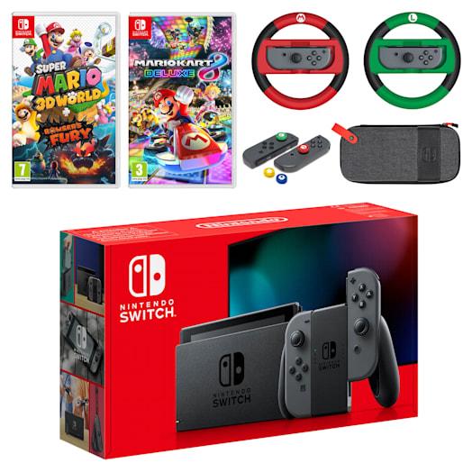 Nintendo Switch (Grey) Mario Mega Pack