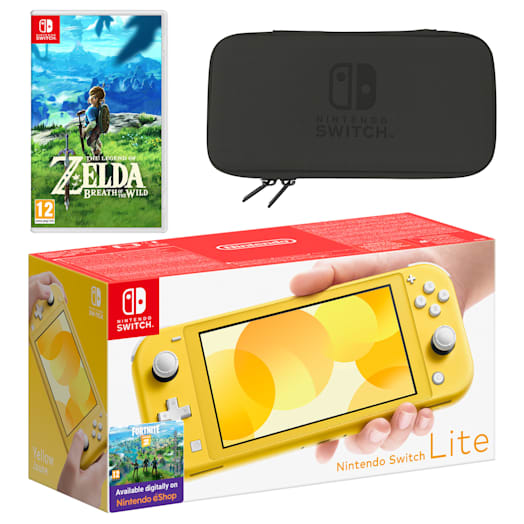 Nintendo Switch Lite (Yellow) The Legend of Zelda: Breath of the Wild Pack