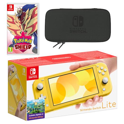Nintendo Switch Lite (Yellow) Pokémon Shield Pack