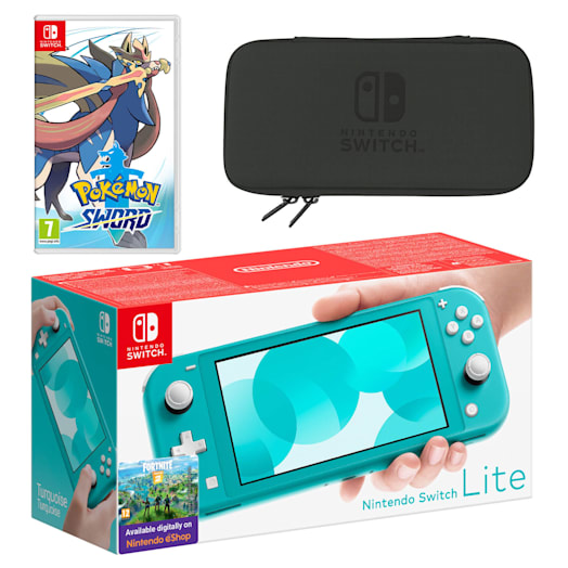 Nintendo Switch Lite (Turquoise) Pokémon Sword Pack