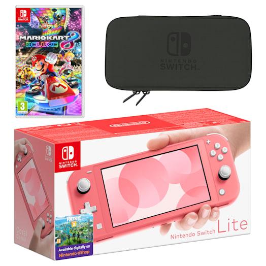 Nintendo Switch Lite (Coral) Mario Kart 8 Deluxe Pack