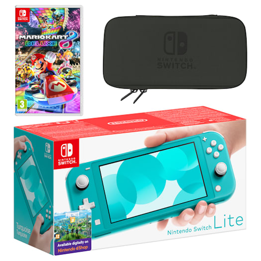 Nintendo Switch Lite (Turquoise) Mario Kart 8 Deluxe Pack image 1