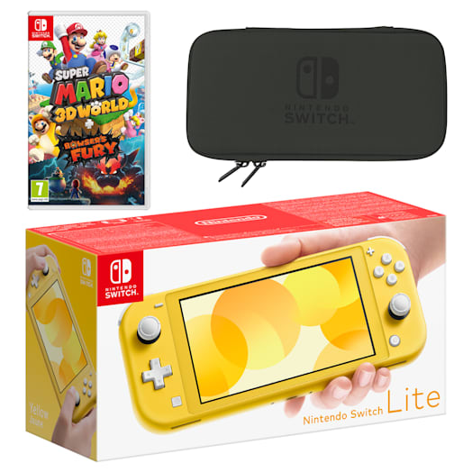 Nintendo Switch Lite (Yellow) Super Mario 3D World + Bowser's Fury Pack