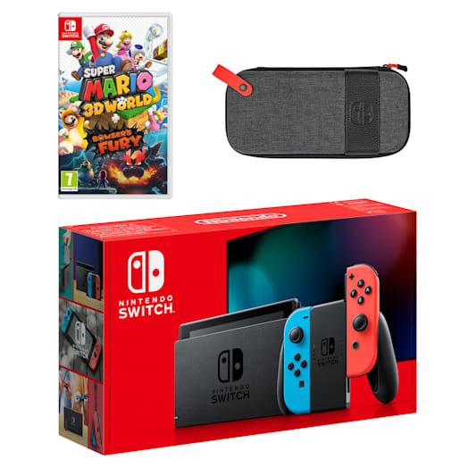 Nintendo Switch (Neon Blue/Neon Red) Super Mario 3D World + Bowser's Fury Pack