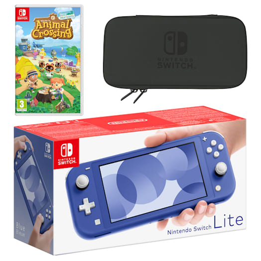 Nintendo Switch Lite (Blue) Animal Crossing: New Horizons Pack