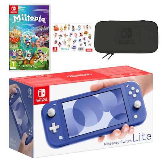 Nintendo Switch Lite (Blue) Miitopia Pack