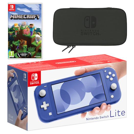 Nintendo Switch Lite (Blue) Minecraft Pack