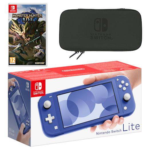 Nintendo Switch Lite (Blue) MONSTER HUNTER RISE Pack image 1