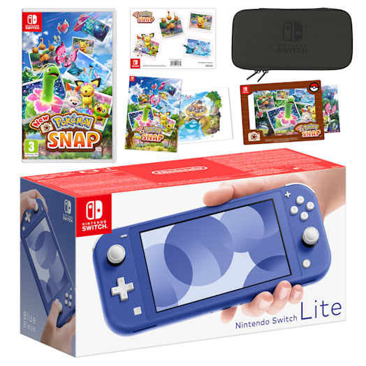Nintendo Switch Lite (Blue) New Pokémon Snap Pack