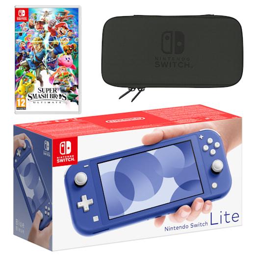 Nintendo Switch Lite (Blue) Super Smash Bros. Ultimate Pack