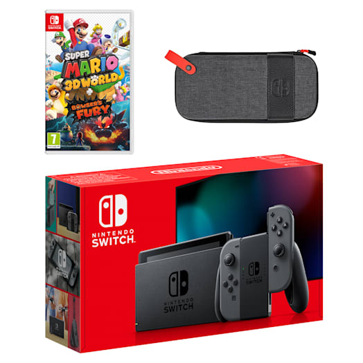Nintendo Switch (Grey) Super Mario 3D World + Bowser's Fury Pack