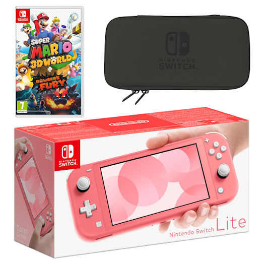 Nintendo Switch Lite (Coral) Super Mario 3D World + Bowser's Fury Pack