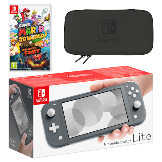 Nintendo Switch Lite (Grey) Super Mario 3D World + Bowser's Fury Pack