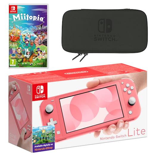 Nintendo Switch Lite (Coral) Miitopia Pack