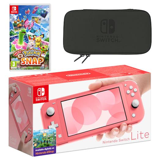 Nintendo Switch Lite (Coral) New Pokémon Snap Pack